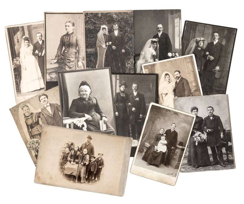 vintage family and wedding photos. original old pictures